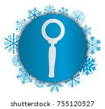 magnifying glass christmas icon | Shutterstock .eps vector #755120527