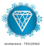jewel christmas icon | Shutterstock .eps vector #755120563