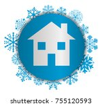 house christmas icon | Shutterstock .eps vector #755120593