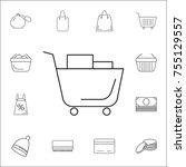 shopping cart icon. set of... | Shutterstock .eps vector #755129557
