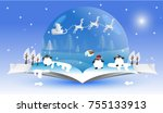 happy new year and merry... | Shutterstock .eps vector #755133913
