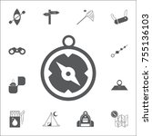 compass icon vector. set of...