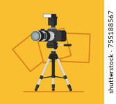 photo studio logo with photo... | Shutterstock .eps vector #755188567