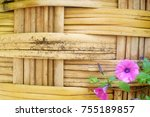 wood background texture fower | Shutterstock . vector #755189857