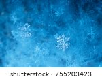 new year and christmas abstract ... | Shutterstock . vector #755203423