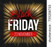 abstract vector black friday...   Shutterstock .eps vector #755208733