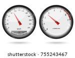 speedometer and tachometer....   Shutterstock .eps vector #755243467