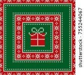 christmas holiday seamless... | Shutterstock .eps vector #755244067