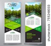 business roll up. standee... | Shutterstock .eps vector #755248033