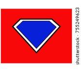 super hero color background | Shutterstock .eps vector #755249623