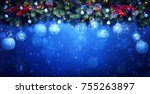 christmas  holidays decoration  ... | Shutterstock . vector #755263897