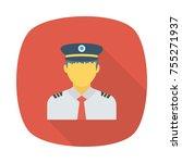 policeman sticker icon   Shutterstock .eps vector #755271937