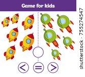 education logic game for... | Shutterstock .eps vector #755274547
