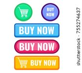 set of web push buttons buy now ... | Shutterstock .eps vector #755274637