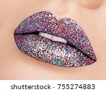 close up view of beautiful... | Shutterstock . vector #755274883