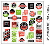 big set of banners and clip art ... | Shutterstock .eps vector #755275513