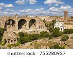 top view of roman forum ... | Shutterstock . vector #755280937