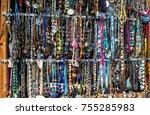lots of costume jewelry  | Shutterstock . vector #755285983