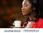 close up face shot of...   Shutterstock . vector #755292913