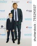 jacob tremblay and owen wilson... | Shutterstock . vector #755293537