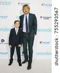 jacob tremblay and owen wilson... | Shutterstock . vector #755293567