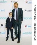 jacob tremblay and owen wilson... | Shutterstock . vector #755293573