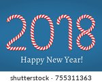 new year  number 2018 made of... | Shutterstock .eps vector #755311363