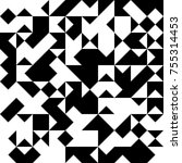 black and white  abstract... | Shutterstock .eps vector #755314453