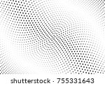 abstract halftone wave dotted... | Shutterstock .eps vector #755331643