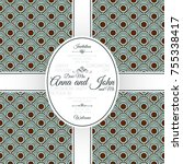 invitation template card with... | Shutterstock .eps vector #755338417
