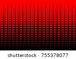 triangle to square fade red... | Shutterstock .eps vector #755378077