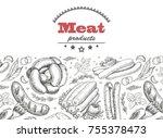 horizontal seamless background... | Shutterstock .eps vector #755378473