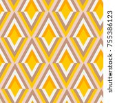 abstract geometric pattern | Shutterstock .eps vector #755386123