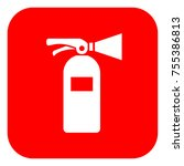 fire extinguisher red square... | Shutterstock .eps vector #755386813