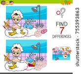 cartoon illustration of finding ... | Shutterstock . vector #755393863