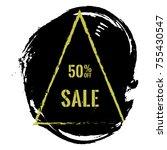 50  off sale banner. vector 50...   Shutterstock .eps vector #755430547