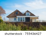 newly build luxurious white... | Shutterstock . vector #755436427