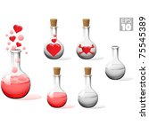 boiling love  trapped  and... | Shutterstock .eps vector #75545389
