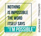 motivational quote inspiration. ... | Shutterstock .eps vector #755461693