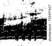 vector black and white grunge... | Shutterstock .eps vector #755497627