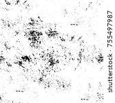 vector black and white grunge... | Shutterstock .eps vector #755497987