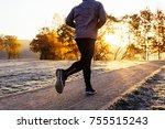 close up of man jogging on