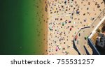 aerial summer view of people... | Shutterstock . vector #755531257