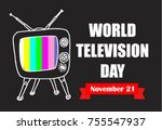 world television day | Shutterstock .eps vector #755547937
