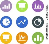 origami corner style icon set   ... | Shutterstock .eps vector #755597803