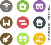 origami corner style icon set   ... | Shutterstock .eps vector #755597827