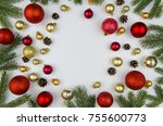 chrismas frame. christmas... | Shutterstock . vector #755600773