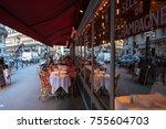 paris  france    november 3 ... | Shutterstock . vector #755604703