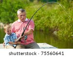 photo of grandfather and... | Shutterstock . vector #75560641