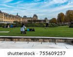 paris  france    november 3 ... | Shutterstock . vector #755609257